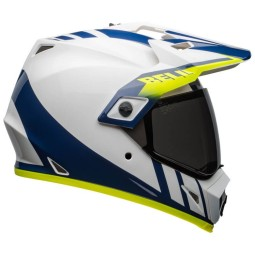 Casco Moto Bell Helmets MX-9 Adventure Mips Dash White, Caschi Motocross / Adventure