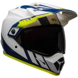 Motorcycle Helmet Bell Helmets MX-9 Adventure Mips Dash White ,Motocross / Adventure Helmets