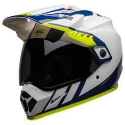 Motorradhelm Bell Helmets MX-9 Adventure Mips Dash White