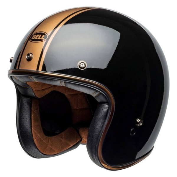 Casco Moto Vintage Bell Helmets Custom 500 Rally Black Bronze