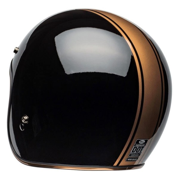 Casque Moto Jet Vintage Bell Helmets Custom 500 Rally Black Bronze