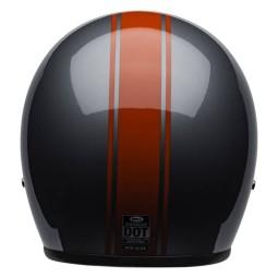Casco Moto Vintage Bell Helmets Custom 500 Rally Gray Red