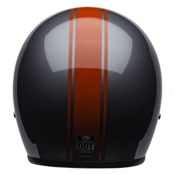 Motorrad Helm Jet Vintage Bell Helmets Custom 500 Rally Gray Red