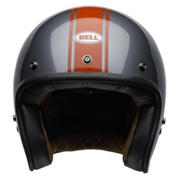 Casque Moto Jet Vintage Bell Helmets Custom 500 Rally Gray Red