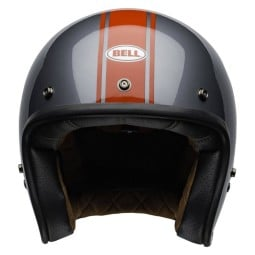 Motorrad Helm Jet Vintage Bell Helmets Custom 500 Rally Gray Red