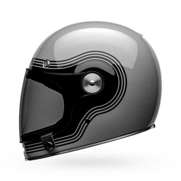 Motorcycle Helmet Vintage Bell Helmets Bullitt Flow Gray Black