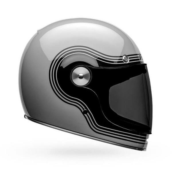 Casco de Moto Vintage Bell Helmets Bullitt Flow Gray Black