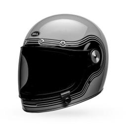 Motorrad Helm Vintage Bell Helmets Bullitt Flow Gray Black