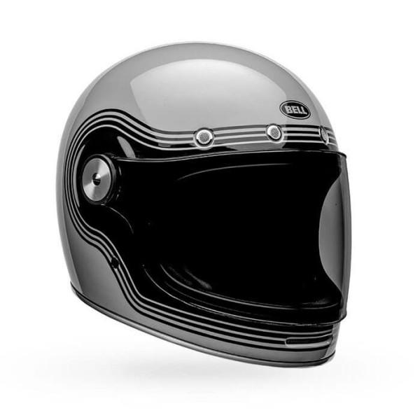 Casque Moto Vintage Bell Helmets Bullitt Flow Gray Black