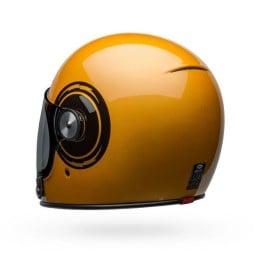 Motorcycle Helmet Vintage Bell Helmets Bullitt Bolt Yellow Black ,Vintage Helmets