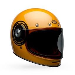 Casco Moto Vintage Bell Helmets Bullitt Bolt Yellow Black, Caschi Vintage