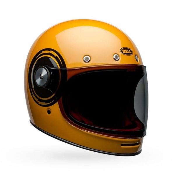 Casco de Moto Vintage Bell Helmets Bullitt Bolt Yellow Black