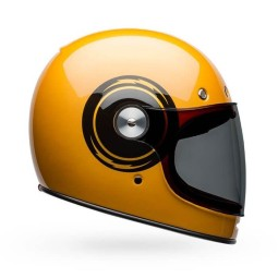 Motorrad Helm Vintage Bell Helmets Bullitt Bolt Yellow Black ,Vintage Helme
