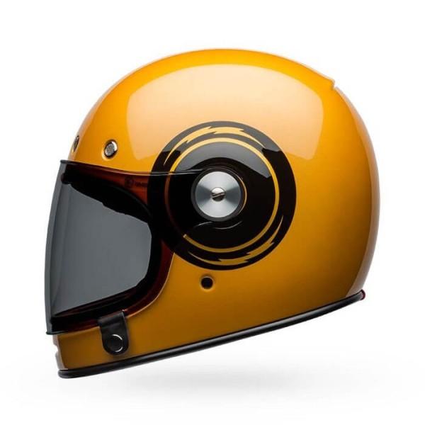 Motorrad Helm Vintage Bell Helmets Bullitt Bolt Yellow Black