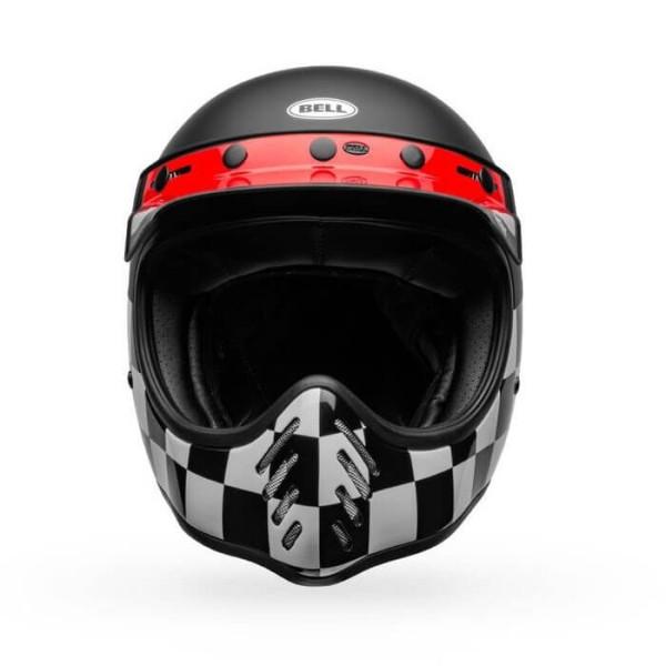 Motorrad Helm Vintage Bell Helmets Moto 3 Fasthouse Checkers