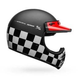 Motorrad Helm Vintage Bell Helmets Moto 3 Fasthouse Checkers ,Vintage Helme