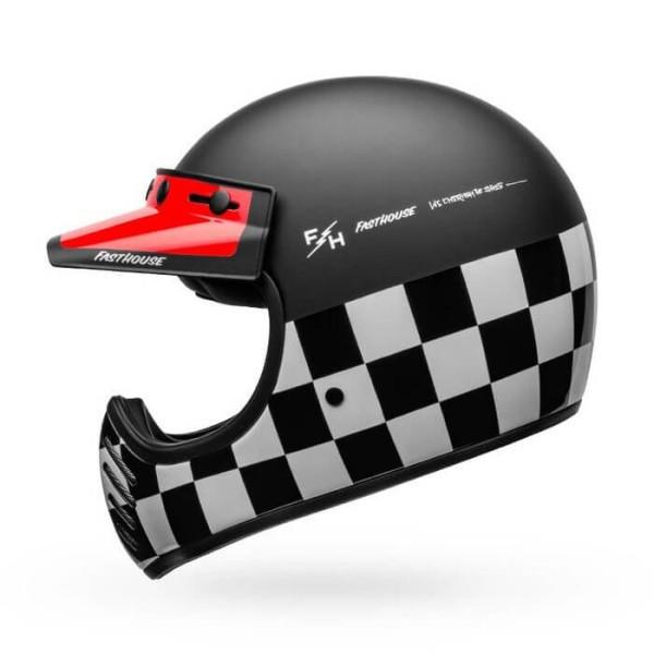 Motorcycle Helmet Vintage Bell Helmets Moto 3 Fasthouse Checkers