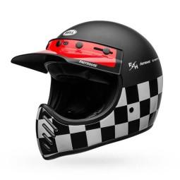 Casco de Moto Vintage Bell Helmets Moto 3 Fasthouse Checkers