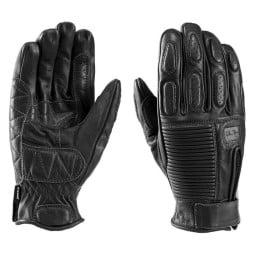 Motorrad-Handschuhe Blauer HT Banner Black ,Motorrad Lederhandschuhe