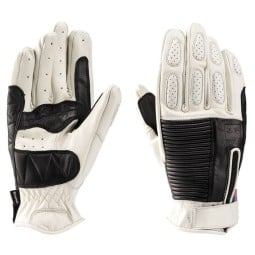 Motorrad-Handschuhe Blauer HT Banner White Black