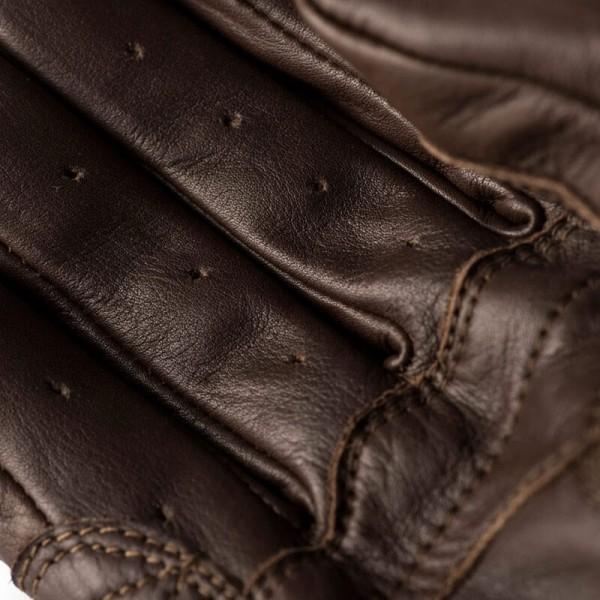 Motorrad-Handschuhe Blauer HT Banner Brown White