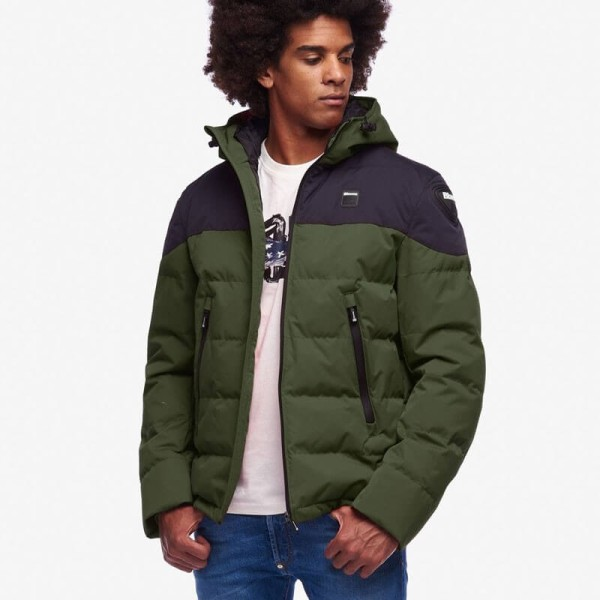 Motorcycle Fabric Jacket BLAUER HT Easy Winter 2.0 Green Blue