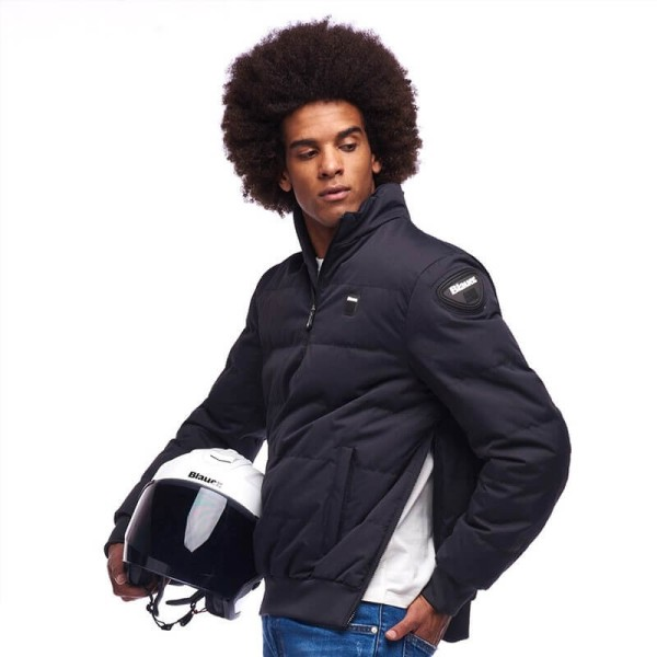Blouson Moto Tissu Blauer HT Winter Pull Man Bleu