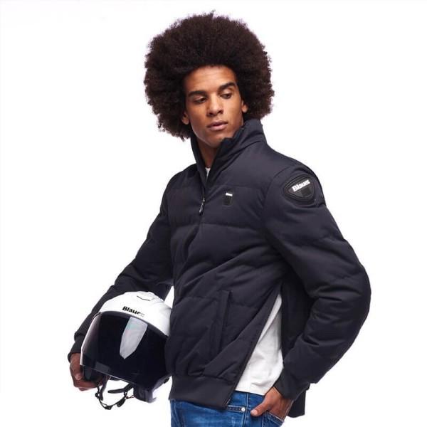 Motorrad-Stoffjacke Blauer HT Winter Pull Man Blau