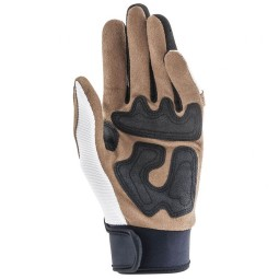 Motorcycle Gloves Ottano Acerbis White Brown ,Motorcycle Textile Gloves