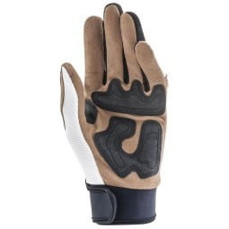 Motorcycle Gloves Ottano Acerbis White Brown, Motorcycle Gloves