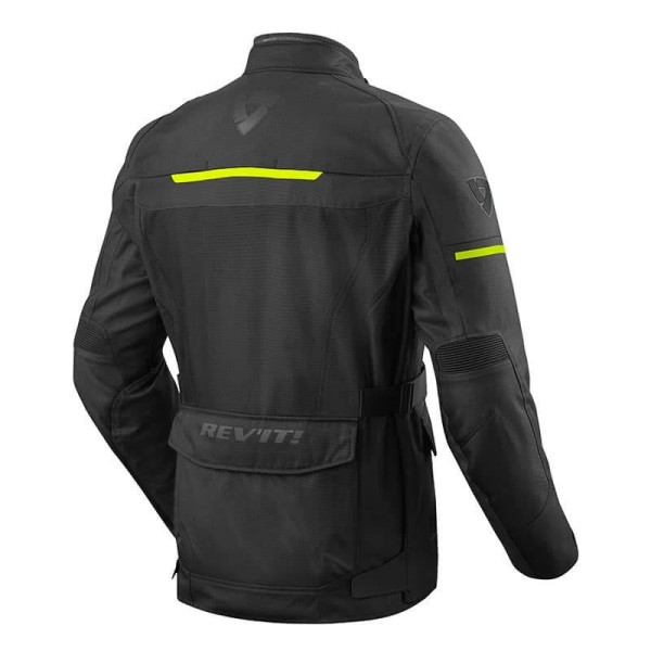 Motorcycle Fabric Jacket REVIT Safari 3 Black Neon Yellow