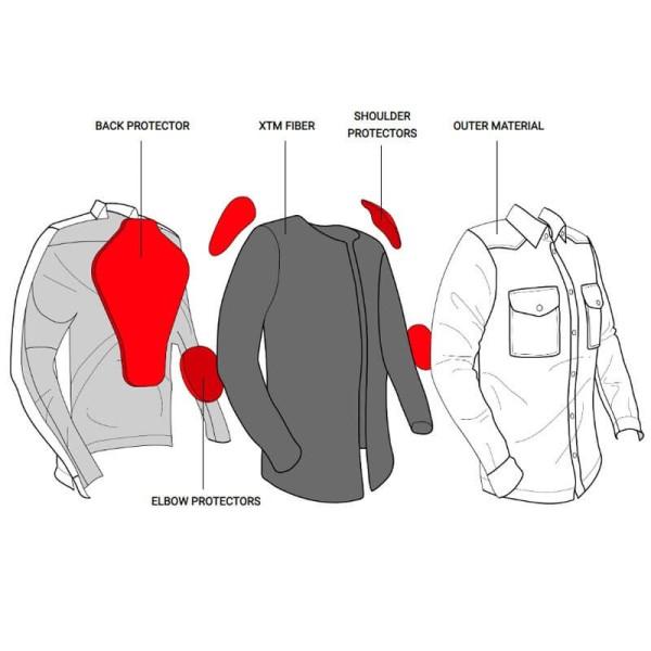 Motorcycle Shirt John Doe JDM Motoshirt XTM Red