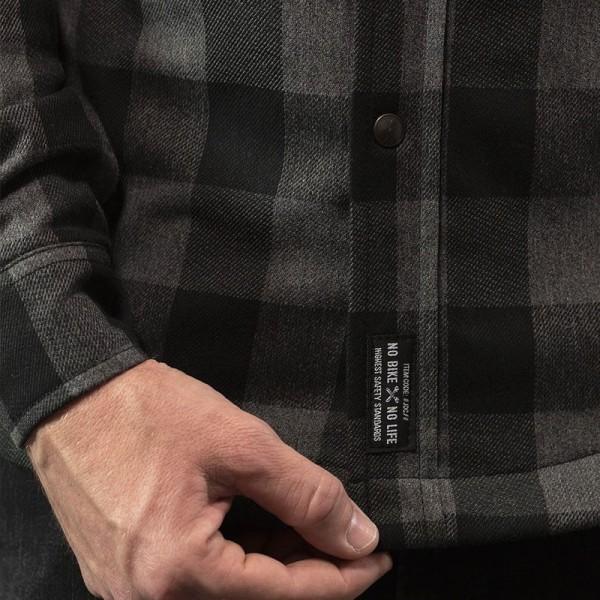 Camisa Moto John Doe JDM Motoshirt XTM Grey