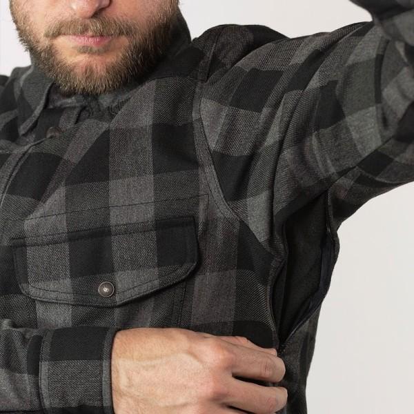 Motorrad Hemd John Doe JDM Motoshirt XTM Grey