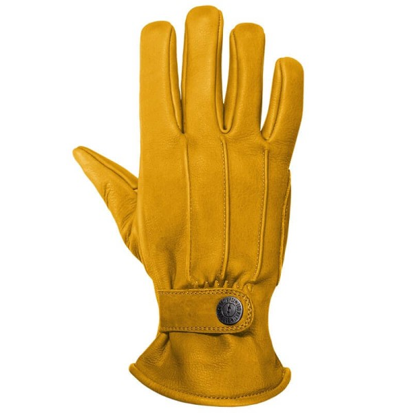 Gants Moto Cuir John Doe Grinder Yellow