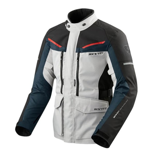 Motorcycle Fabric Jacket REVIT Safari 3 Silver Blue