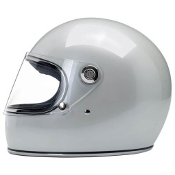 Casco Moto Vintage Biltwell Gringo S Metallic Pearl White, Caschi Vintage