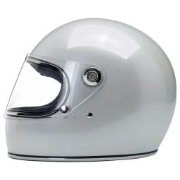 Motorrad Helm Vintage Biltwell Gringo S Metallic Pearl White