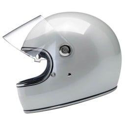 Motorcycle Helmet Vintage Biltwell Gringo S Metallic Pearl White ,Vintage Helmets