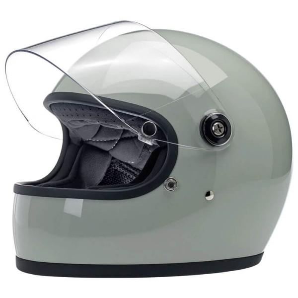 Motorcycle helmet vintage Biltwell Gringo S gloss sage green