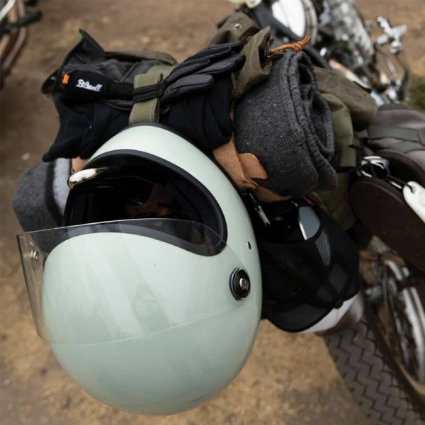 Casco moto vintage Biltwell Gringo S gloss sage verde