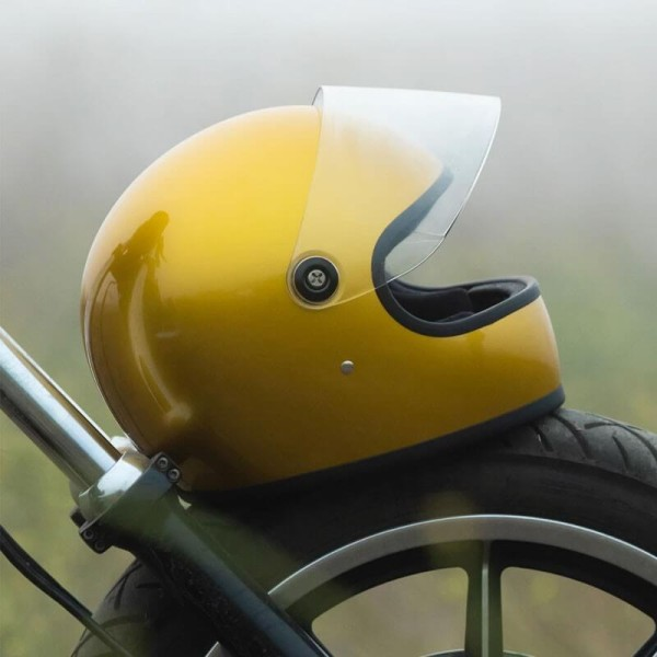 Casque moto vintage Biltwell Gringo S Yukon Gold
