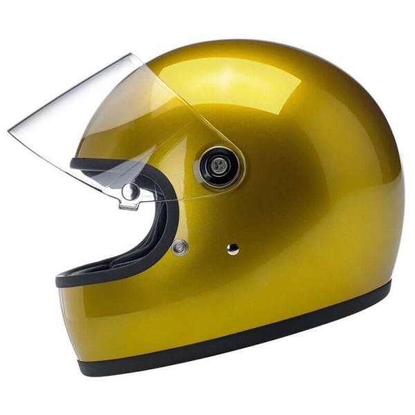 Casco moto vintage Biltwell Gringo S Yukon dorado