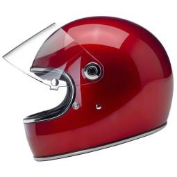 Casco moto vintage Biltwell Gringo S Candy Rojo