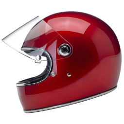 Motorcycle helmet vintage Biltwell Gringo S Candy Red ,Vintage Helmets