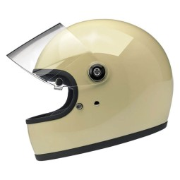 Casco Moto Biltwell Gringo S Vintage blanco