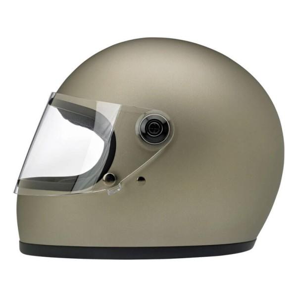 Motorrad Helm Vintage BILTWELL Gringo S Flat Titanium
