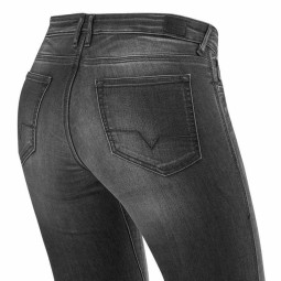 Jeans Moto REVIT Westwood Donna Grigio Used , Jeans Moto