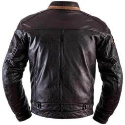 Chaqueta moto cuero Helstons Ace Rag marrón