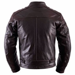 Leather motorcycle jacket Helstons Ace Fender brown